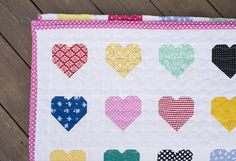 Hanna Hearts ~ A Finished Quilt