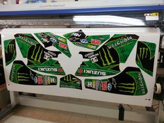 Suzuki LTZ 400 or Kawasaki KFX 400 atv / mx graphics. Kit by Fireblade Graphics and Signs. Like us on Facebook and see our other kits, contact info and information about our kits