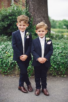 e1dac5f358 Navy Blue Suspenders and Blue Boys Bow Tie, Baby Wedding Outfit ...