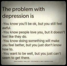 Problems with depression