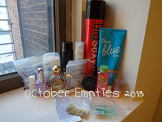 October Beauty Hair and Skin Care Empties 2013
