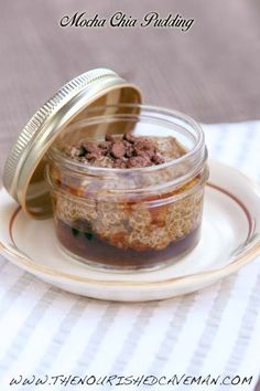 Mocha Chia Pudding By The nourished Caveman -Do you love coffee and chocolate but want a nutritious breakfast? This Mocha Chia Pudding might be the answer for you!