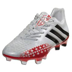 adidas Predator LZ TRX FG - miCoach compatible - Running White/Black/Red Firm Ground Soccer Shoes