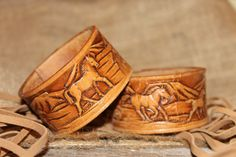 Horses Brown Leather Cuff Bracelet Reclaimed. https://www.etsy.com/shop/2rustynails?ref=si_shop