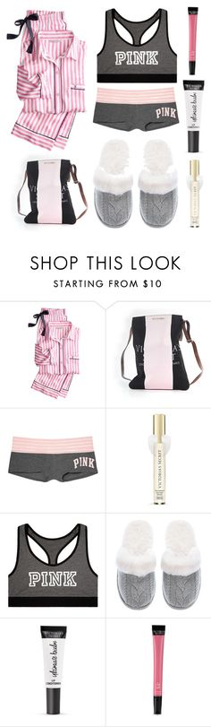 """Victoria's Secret Pyjama Party"" by accio-hogwarts-81 ❤ liked on Polyvore featuring Victoria's Secret"