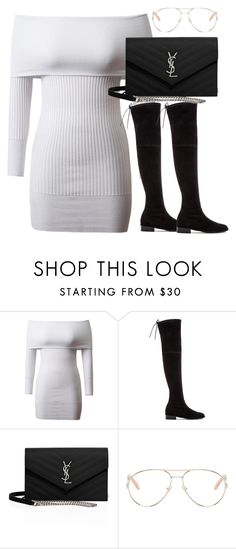 """Untitled #2548"" by theeuropeancloset on Polyvore featuring Stuart Weitzman, Yves Saint Laurent and Chloé"