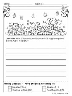 November Printables - First Grade Literacy and Math