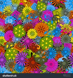 Seamless abstract hand-drawn pattern, floral background. Summer flowers elegant seamless pattern can be used for wallpaper, pattern fills, web page background,surface textures.