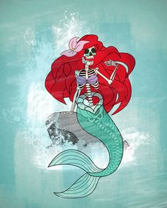 Day of the Dead Ariel Art Print