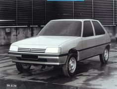 OG   1982 Peugeot 205 - Project M24   Improved in-house proposal dated March 1979