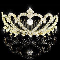 Bridal Wedding Princess Pageant Prom Crystal Tiara Crown Headband – USD $ 3.99