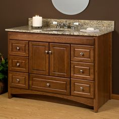 48 treemont vanity cabinet with hammered copper basin