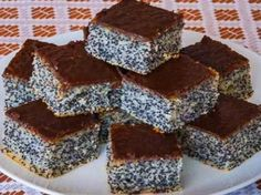 Simple poppy seed cake This is traditional slovak cake. It is easy for preparation and very good. I love it, because this cake preparing my grandma when I was a little girl. Easy Cake Recipes, Sweet Recipes, Dessert Recipes, Desserts, Poppy Seed Cake, Kolaci I Torte, Homemade Sweets, Ukrainian Recipes, Czech Recipes