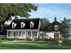 ePlans Colonial House Plan –2806 Square Feet and 5 Bedrooms from ePlans – House Plan Code HWEPL75838