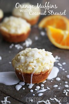Orange Muffins with Coconut Streusel