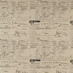 REVENGE is a novelty fabric featuring antique/vintage document French script. The print is a black colour, where-as RUE DE PARIS print is medium grey tone. Hamptons House, The Hamptons, Date, Natural Cushions, Warwick Fabrics, Novelty Fabric, Chair Fabric, Occasional Chairs, Upholstered Chairs