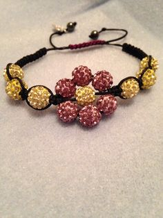 Flower Shamballa Bracelet by Scentski on Etsy, $15.00