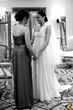 bride Tia Mowry on her wedding day with her sister Tamera. I remember when I used to watch them on Disney channel all of the time.