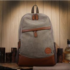 Vintage Casual Canvas Backpack Laptop Bag