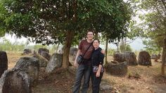 Phonsavan - Plain of Jars Site III - Tanya and Andrew and other Jars