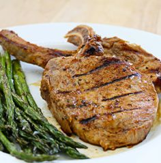 Marinade combines a sweet but spicy marinade with salty pork chops ...