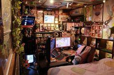 Room Ideas Bedroom, Diy Room Decor, Emo Bedroom, Bedrooms, Grunge Decor, Otaku Room, Gaming Room Setup, Kawaii Room, Pretty Room