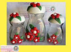Coffee Jar Crafts, Coffee Jars, Water Bottle Crafts, Nescafe, Empanadas, Biscuit, Christmas Diy, Santa, Home Decor