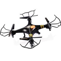 GPTOYS F2 Black Aviax 6-Axis 2.4GHz Quadcopter Remote Contral Drone with 3D Flip / Cruise Control / Fixed Altitude Shooting / Headless Mode GPTOYS