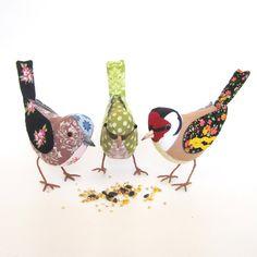 cotton fabric bird