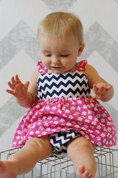 Shortcake Romper Sewing Pattern - Options for Baby Top, Bubble Romper, & Infant Skirt Romper Pattern