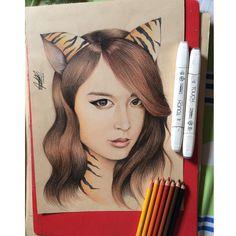 Follow me follow me.  #jiyeon #art #drawing #kpop #Bopeep #TARA #Cat @jiyeon2__ #park #parkjiyeon