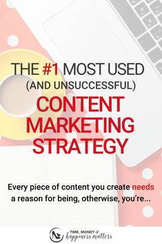 The most used content marketing strategy happens to also be the most unsuccessful content strategy! Business Branding, Business Tips, Online Business, Content Marketing Strategy, Email Marketing, Marketing Ideas, Make More Money, Make Money Blogging, Business Entrepreneur