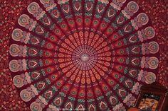 Indian tapestry | Maroon-Indian-Mandala-Tapestry-Wall-Hanging