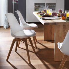TENZO Stuhl Bess, weiß - 4 Fuß Stühle - Stühle & Freischwinger - Esszimmer - Möbel
