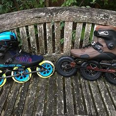 @janericwelch is the man behind the @bigwheelblading project! He is in love with #triskates and over the past week he got two new pairs on Powerslide Inline skates.  Which ones do you like the most?  #welovetoskate  #powerslide #inlineskate #befreewiththree
