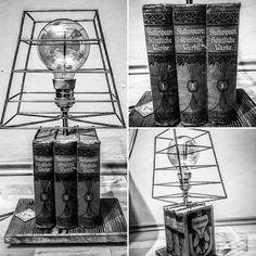 Lamp steampunk loft industrial Book  Zobacz na Instagramie zdjęcie użytkownika @supernalgaragedg • Polubienia: 19