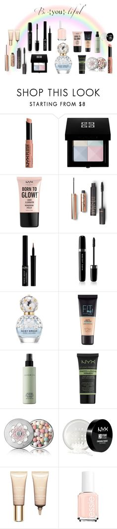 """Somewhere over the rainbow"" by scrookshanks on Polyvore featuring beauty, NYX, Givenchy, Giorgio Armani, Marc Jacobs, Maybelline, Cover FX, Guerlain and Clarins"
