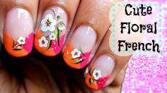 Bright Floral French Manicure for SPRING/SUMMER. https://www.youtube.com/watch?v=imSSsDyFtl4&list=UUXc9vucGRhqikPjZMfpgQYw