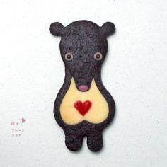 honey badger (?) cookie! @Caroline Pinkston // dessert girl: Henteco Cookies