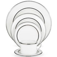 kate spade new york by Lenox Library Lane Platinum 5 Piece Place Setting