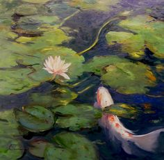 Asian lily pad paintings
