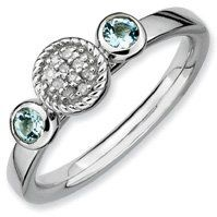 0.26ct Stackable Round Aquamarine & Diamond Ring Band. Sizes 5-10 Available Jewelry Pot. $51.99. 30 Day Money Back Guarantee. All Genuine Diamonds, Gemstones, Materials, and Precious Metals. Fabulous Promotions and Discounts!. 100% Satisfaction Guarantee. Questions? Call 866-923-4446. Your item will be shipped the same or next weekday!. Save 59% Off!