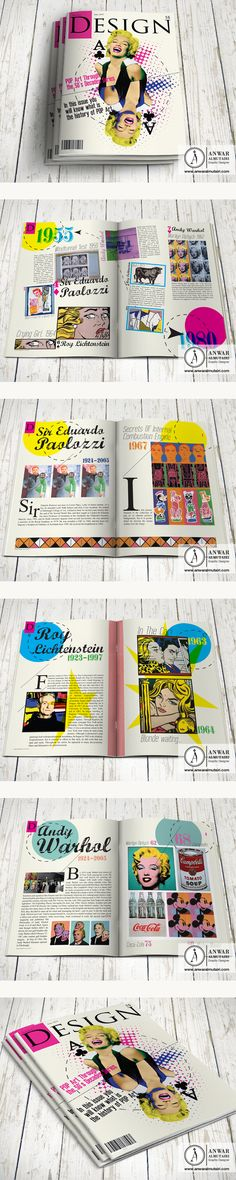 Design History Magazine   Pop Art by Anwar Al-Mutairi, via Behance