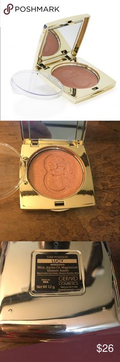 """Gerard cosmetics """"LUCY"""" was inspired by the iconic comedian and sitcom star who will forever be America's sweetheart. This rosy highlight is ultra velvety and finely milled. We added a hint of golden shimmer to give it dimension and it looks beautiful on the cheekbones or mixed with the blush of your choice. Sampled a few times but just never reach for it. Gerard Cosmetics Makeup Bronzer"""
