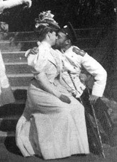 Tsar Nicholas II & Tsarina Alexandra kissing