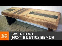 How to make a (NOT RUSTIC) bench from reclaimed pallets - YouTube