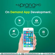 Prana softwares is a on demand app development company that provides you the On Demand solutions for your holistic business growth. App Development Companies, Pos, Make It Simple, Health Care, Social Media, Technology, Activities, Tech, Tecnologia