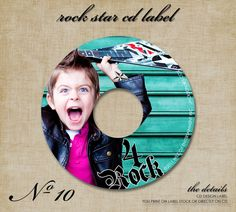No 10 Rock Star Custom CD Cover Sleeve by modernmoments on Etsy