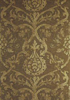 PRAVATA DAMASK, Gold on Foil, T89176, Collection Damask Resource 4 from Thibaut