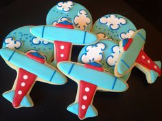 Airplane Decorated Sugar Cookies (1 Dozen) via #TheCookieCutterCompany